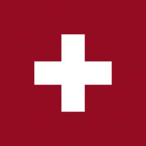 Adiserve Serviettes en Papier 25 x 25 cm Lot de 20 jetables Non tissé Drapeau Suisse