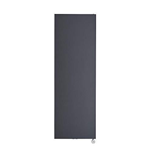 Hudson Reed Rubi - Design Flachheizkörper Elektrisch Vertikal Anthrazit 1800mm x 600mm inkl. 1000W Heizelement