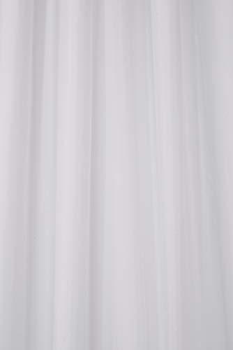 Croydex Textil-Duschvorhang, mit Ösen, Weiß