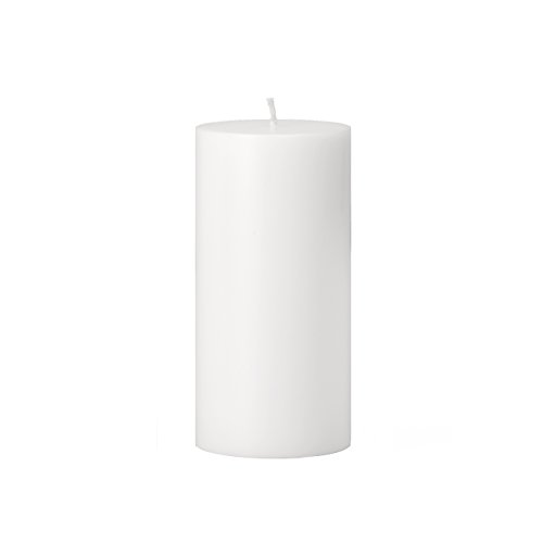 Torre & Tagus 901758B Prime Palm Wax Pillar Candle 3 by 6-Inch, White