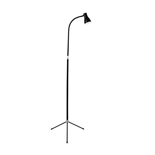 SKSNB Lámpara de pie LED para Sala de Estar, luz de Piso, trípode de Metal, lámpara de Lectura con protección Ocular Flexible de Cuello de Cisne de 10 W, lámpara de cabecera, para dormit