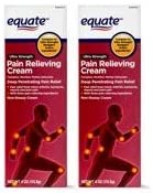 Equate Ultra Strength Pain Relieving Cream Muscle Rub 4 Ounce Tube Pack of 2 product image