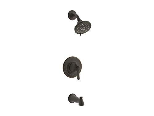 Kohler Sterling R99913-4G-2BZ Georgeson grifo de baño/ducha, mango único, con cabezal de ducha, bronce aceitado – Cantidad 1