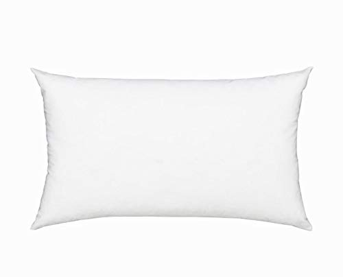 Fennco Styles Polyester Fiber White Pillow Insert for Couch...