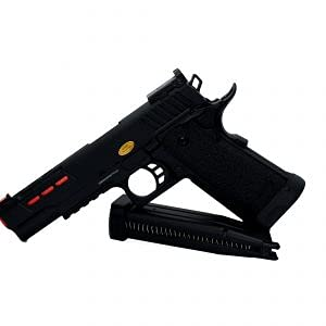 Pistola Airsoft GBB Hi-Capa Golden Eagle 3342 cañón Externo Rojo metálica réplica Escala 1:1 Potencia 1 Julio 6 mm
