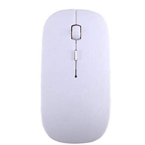Morninganswer Ratón inalámbrico óptico ultradelgado USB 2.4G Receptor Super Candy Color Slim Mouse para computadora de Escritorio PC Laptop White
