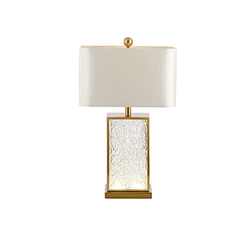 SPNEC Moderno y Simple Estilo Chino Sala de Estar lámpara de Mesa de Cristal Americano Modelo de Moda habitación Dormitorio Noche lámpara de Mesa