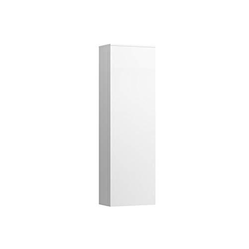 Lopende Kartell hoge kast, 1 deur, 4 glazen legborden, links scharnier, 1300x400x270 mm, Kleur: Kiezelgrijs - H4082810336411