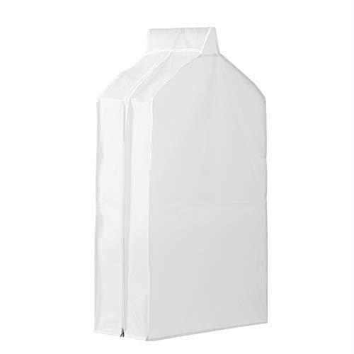 HERCHR Garment Storage Bags, Dust-Proof Hanging Clothes Cover, PEVA Translucent Garment Bags for Suit Coats Long Dresses, 60 x 30 x 110 cm