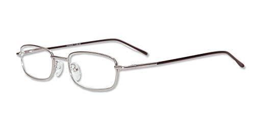LINDAUER Herren Lesebrille Metall +3,0 silber Flexbügel Fertigbrille Lesehilfe