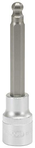 """KS Tools 911.1658 Vaso para puntas Allen con cabeza esférica, largo, hexagonal (tamaño: 8 mm, 1/2""""), 5.1 cm"""