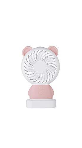 TYZP Mini ventilador de 2ª marcha de ajuste de dibujos animados luz nocturna USB Ventilador de mano (color: Oso (rosa)