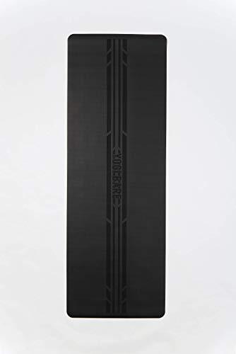 Yogi Bare Paws X – 2 metri di lunghezza, tappetino da yoga da uomo, antiscivolo, ecologico, superficie in gomma naturale con allineamento del corpo, lunghezza 2 m, XL, nero