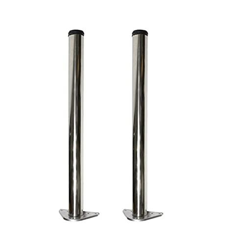 SILAAI 2pcs Metal Mueble Patas de Mesa Gabinete Escritorio Mesa Metal Piernas 304 Acero Inoxidable, Ajustable Altura Los 20-140cm, Personalizable (Color : P, Tamaño : 140cm/55.1in)