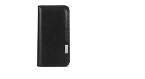 Moshi Overture for iPhone SE 2020/8/ 7 Case, Wallet Folio Cover with Vegan Leather, Folding Stand, Military-Grade Drop Protection, Wireless Charging Compatible, Charcoal Black (99MO091001)