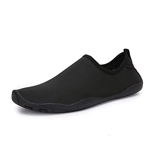 Zapatos De Agua, Zapatos De Agua Descalzos, Zapatos De Playa para Mujeres Y Hombres, Zapatos De Agua De Secado Rápido para La Playa, Canotaje, Pesca, Yoga, Buceo, Surf (Black,40 (EU 40 1 3))