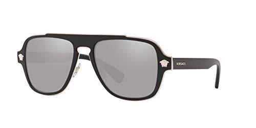 Versace 0Ve2199 Gafas de Sol, Matte Black, 55 para Hombre