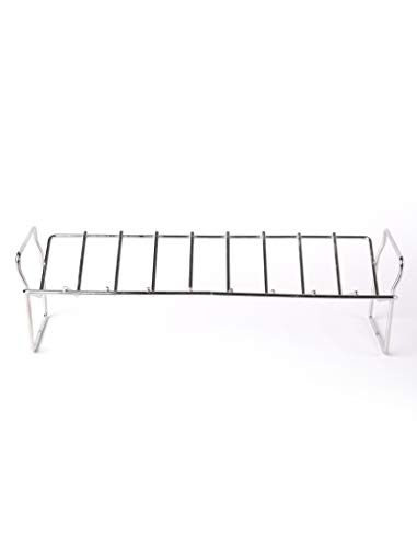 BBQ Stainless Steel V Rib Rack fit for Big Green Egg, Primo,Vision, Kamado Ceramic Grills All Indoor Ovens Egg Accessories for Smoker Roasting True Rack Charcoal Cooking