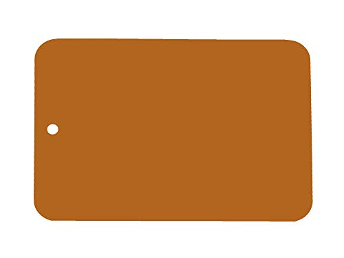 Leifalit Farbmuster lackiert auf Blech, Leifalit, Saharabraun 2