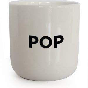 PLTY - POP Becher - Tasse ohne Henkel - Handglasiertes Weiß Porzellan - Coffee Mug - Beat - Dänisches Design