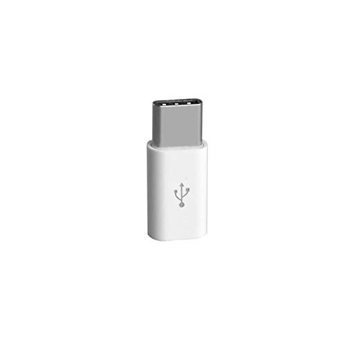 GBHD Lector de Tarjetas SD 5 Adaptadores Tipo C Micro USB para Tipo C Conector de Cargador para Samsung TipoC a USB-C Cable USBC (Color : 1pcs White)
