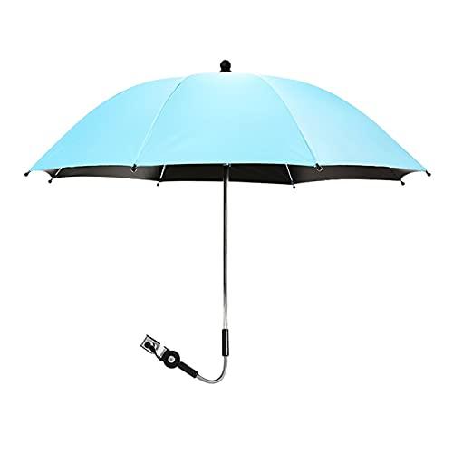 Paraguas Cochecito de bebé ajustable a prueba de ultravioleta ACCESORIOS DE TITULAR DE PARÁSIONES Montaje Montaje Múltiples silla de ruedas Parasol Shelf Conector de bicicleta ( Color : Blue )
