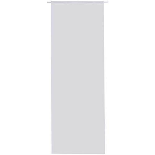 Bestlivings Flächen-Vorhang Blickdicht Schiebe-gardine Raumteiler Schiebe-Vorhang ca.60cm x 245cm, Auswahl: mit Zubehör, grau - hellgrau
