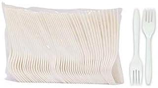 LIVINGSTONE FORKS WHITE PLASTIC 152MM 100/PACK LOOSE PACK