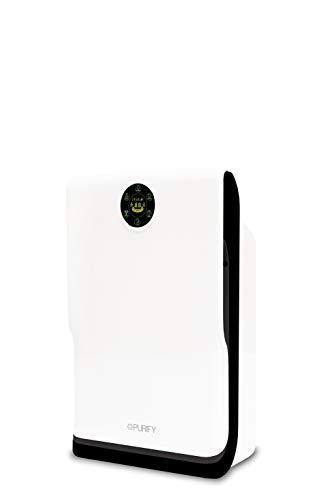 Purificador de aire Purify C160, protección 6 en 1, hasta 40 m², cadr 159 m³/h, PM 2.5 99,9%, ruido 20,4 dBA, eficiencia de filtración bacterica 98,06%, ventilador 3 velocidades, mando a distancia