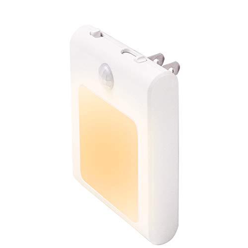 センサーライト 人感 足元灯 JOKBEN 三つモード コンセント 明るさ調節 LED 廊下 玄関 階段用 電球色 1個
