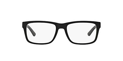 A|X ARMANI EXCHANGE Ax3016 - Marco para gafas graduadas cuadrado para hombre, Negro (black/Demo Lens), 53 mm