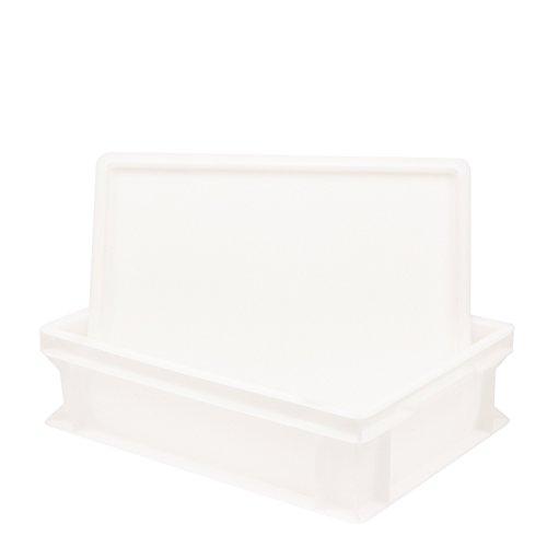 Pimotti Pizzaballenbox (1er Set mit 1xDeckel) mit 30 x 40 x 12 cm, Kunststoffbehälter für Pizzateig, Stapelbehälter, Gärbox (11,5 Liter)