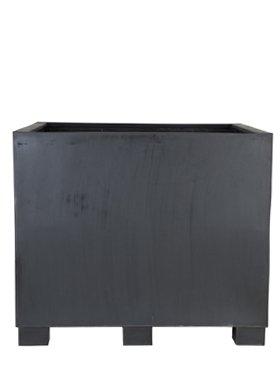 Stone Big Block 140 Bloempot, 140 cm, zwart, zeer groot, bloempot, plantenbak, plantenbak, vorstbestendig, beter dan glasvezel, vierkant, maat L: 140 cm B: 140 cm H: 90 cm van Bloemenkubus