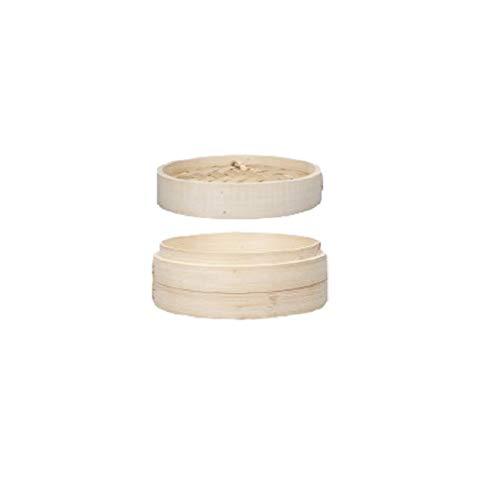 FLAMEER Cestino per Il Vapore in bambù Cinese Che Cucina Un Cestino per Il Vapore con Gnocchi Fatti A Mano - 18 cm 7 Pollici