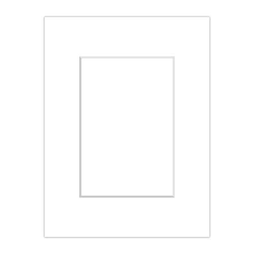 AlphaUVplus Passepartout Schneeweiß - Außen: 40 x 50 - Für Bildgröße DIN A3 - Museumsqualität