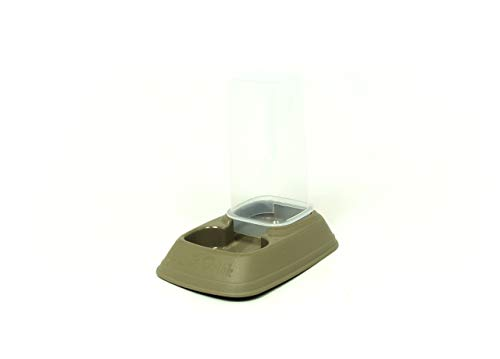 Biancheriaweb - Dispensador de Comida/Agua 0,7 l para Animales Modelo 700083 Color Beige