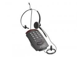 Plantronics T10 - Auriculares con micrófono para teléfono fijo, color negro