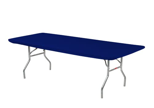 Kwik-Covers 6' Rectangle Plastic Table Covers 30' x 72', Bundle of 5 (Navy Blue)