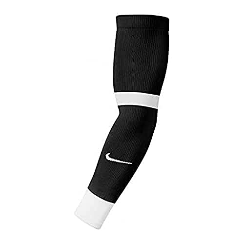 Nike MatchFit, Manicotto Unisex Adulto, Nero Bianco, S/M