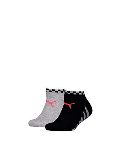 Puma - Jongens - 2-Pack Big Puma Sneaker Sokken - Zwart - 31-34