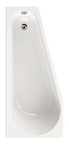 'aquaSu® Acryl-Badewanne laPino Rechts | Wanne | Badewanne | Bad | Badezimmer | Weiß | 160 x 70 cm