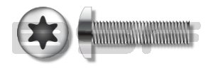 10-32X5 8 6 Lobe Pan Cheap mail order shopping Max 80% OFF Machine Fully Threaded Screw 18-8 Stainless
