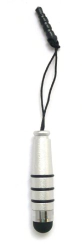 emartbuy® Silber Metallic Mini Eingabestift für kapazitive Resistive Touchscreens für Doogee Turbo2 DG900 / Kissme DG580 / Latte DG450 / Mint DG330