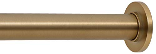 Ivilon Tension Curtain Rod - Spring Tension Rod for Windows or Shower, 54 to 90 Inch. Warm Gold
