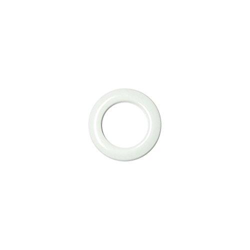 Oeillets à Clipser pour Rideaux Coloris Blanc - diamètre 28 mm - Lot de 8