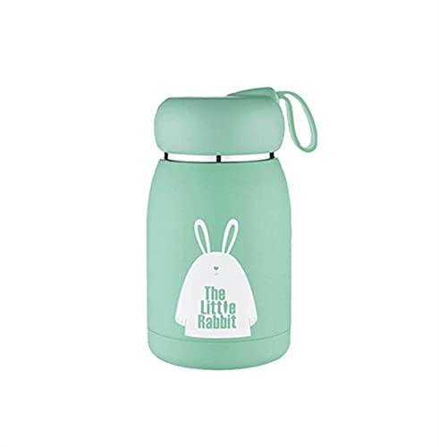 KANCK Taza de Acero Inoxidable Taza Taza de vacío Frascos de vacío Taza de Vientre Botella térmica para Agua Vaso Aislado para niños Café Animal (Capacity : 330ml, Color : Green)
