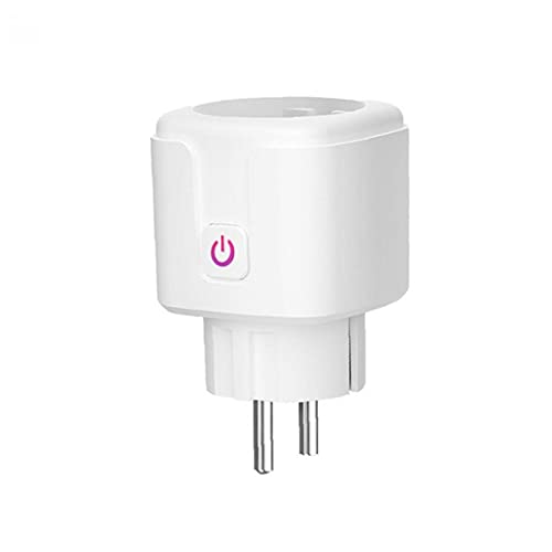 Sanfiyya Inteligente zócalo WiFi tapón de Salida 16A de Control Remoto del Interruptor Mini Mide la energía eléctrica consumida Blancos