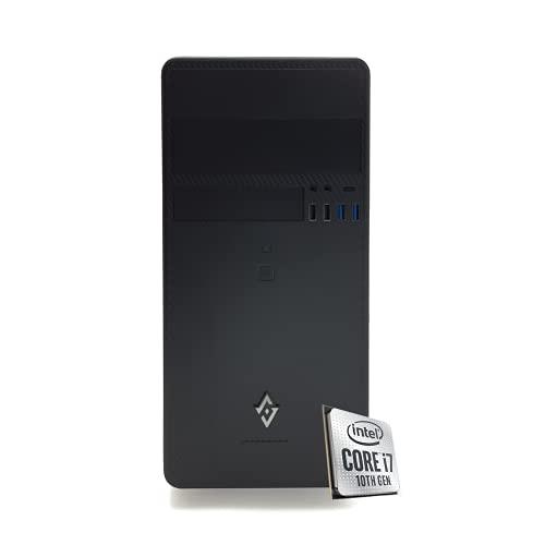 INVENTIVE P700 - Pc fisso intel i7 10700K fino 5.1Ghz 8 Core,Ram 16 Gb Ddr4,Ssd 500Gb NVMe,Windows 10 Professional,Pc Desktop,Computer fisso