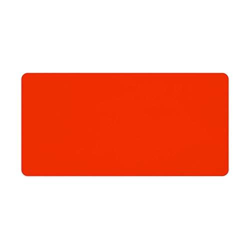 Alfombrilla de ratón para ordenador portátil y escritorio sólida, color naranja, 1 paquete de 600 x 300 x 3 mm, 23,6 x 11,8 x 1,1 en 1 paquete de 600 x 300 x 3 mm