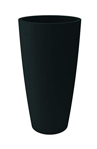 HOWE-Deko Blumentopf/Pflanztopf, Höhe 85 cm, Ø 38, anthrazit, matt, 18 l Inhalt, mit herausnehmbarem Pflanz-Einsatz, für Innen und Außen, aus hochwertigem Polyethylen